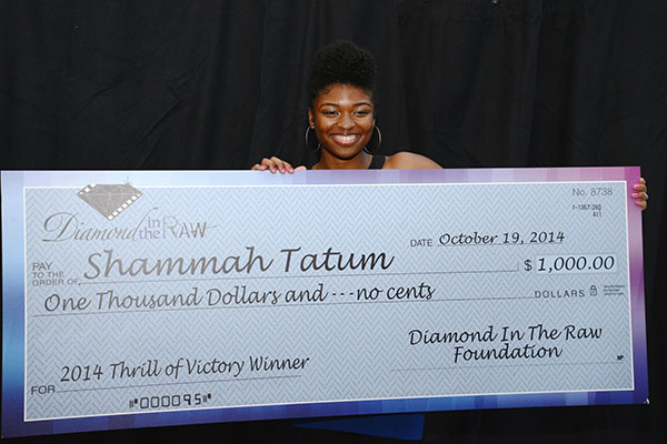 Shammah Tatum received a scholarship for her efforts in the program (Courtesy of Lafaye Baker)