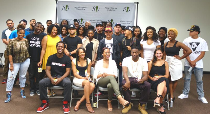 Master Class attendees and panelists pose with program creators Waverly Coleman and Zon D'Amour. (Lorenzo Diggins Jr.)