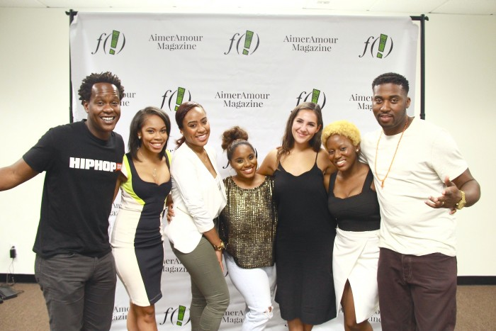 Justin Hunte, Editor-in-Chief of HipHopDX; Danielle Cadet Senior Editor ESPN; Courtney Whitaker, Weekend Editor of Madame Noire; Wavelery Coleman, Founder of United We Function; Dana Droppo, Senior Editor Complex Media; Zon D'Amour, Editor-in-Chief of AimerAmour Magazine; Charles Handy, Lead Editor at REVOLT.
