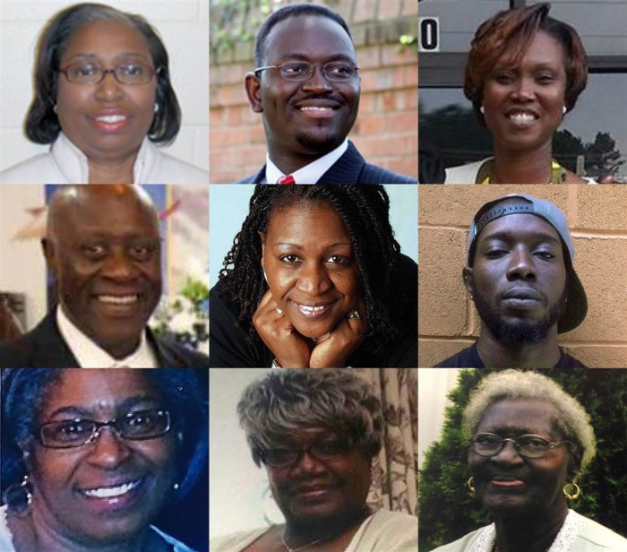 The nine victims killed in the church shooting in Charleston, South Carolina (l-r) The victims were Cynthia Hurd, Rev. Clementa Pinckney, Rev. Sharonda Coleman-Singleton, Rev. Daniel Simmons, Rev. DePayne Middleton-Doctor, Tywanza Sanders, Myra Thompson, Ethel Lance and Susie Jackson. (courtesy photo)