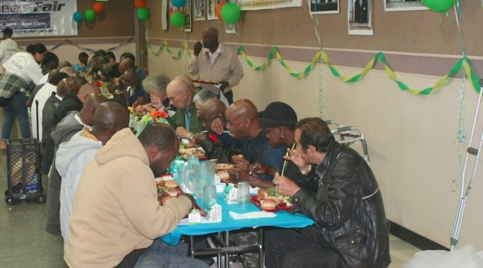 Many people enjoyed the nutritious meal served by Trinity's volunteers.