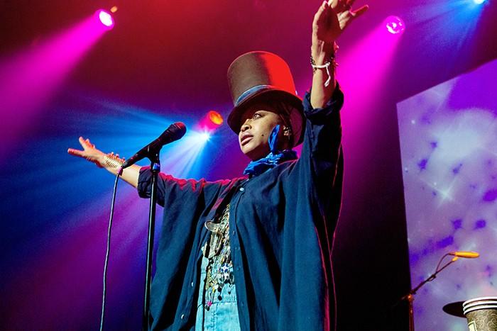 Erykah Badu performing. (Robert Torrance/LA Sentinel)