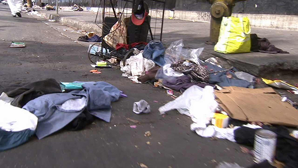 Homeless encampment in Los Angeles (courtesy photo)
