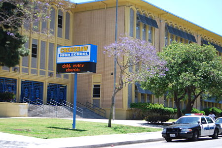 Crenshaw High School in the Los Angeles Unified School District - The state's schools chief last week announced in Los Angeles his latest plan to improve California's education system. The four-year ``A Blueprint for Great Schools'' offers suggestions to improve teacher recruitment and training, a new school accountability system and continued incorporation of Common Core, the math and English language arts benchmarks adopted by nearly all states.
