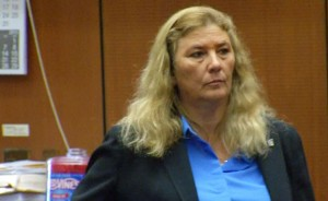 Veteran Los Angeles police officer Mary O'Callaghan was sentenced Thursday July 23, to the maximum of three years behind bars for kicking and shoving a handcuffed Alesia Thomas who later died, with a judge ruling that she will serve 16 months in county jail and the last 20 months of her term will be suspended. (courtesy photo)