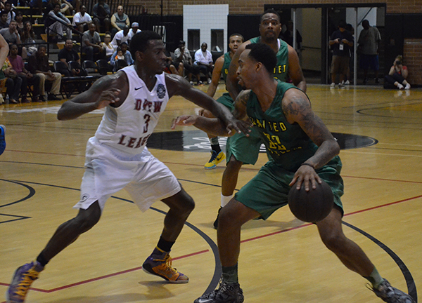 The Drew League takes place at the campus of King/Drew Magnet High School. A series of seven games are scheduled on both Saturdays and Sundays during the season, according to the Drew League website. (Amanda Scurlock/ LA Sentinel)