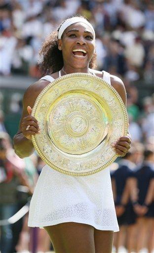 Serena Williams wins 2015 Championship against opponent Garbine Muguruza (AP photo)