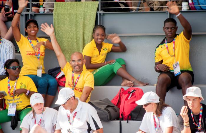The Jamaican Special Olympic Team. (Robert Torrance/LA Sentinel)