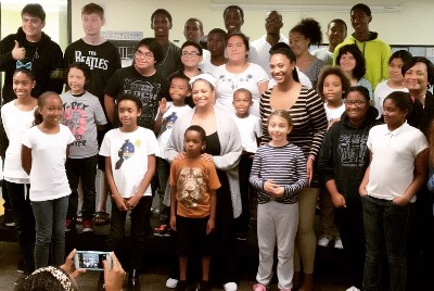 Students of Wiley Center For Speech and Language Development, with Debbie Allen. (Photo Courtesy of Wiley Center For Speech and Language Development)