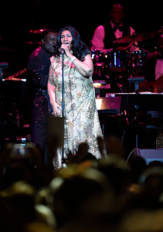 Aretha Franklin performing in Oakland, CA. (courtesy photo)