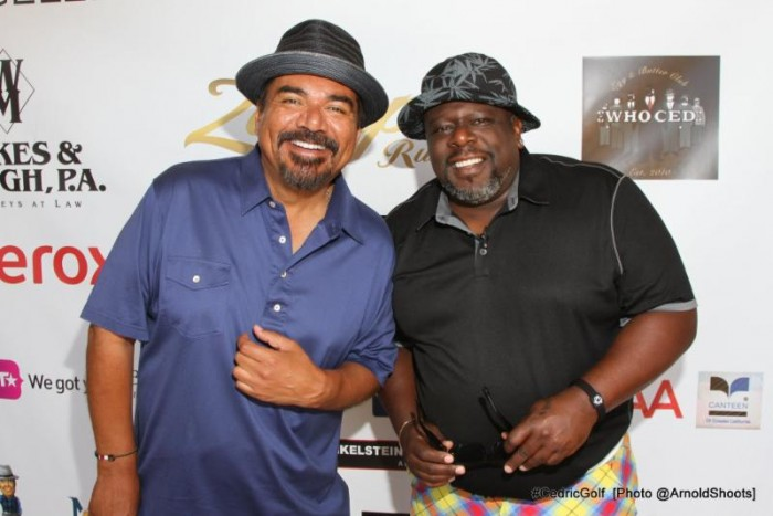 "It is hard to keep a straight face when Cedric ""The Entertainer"" and George Lopez hit the links at the 3rd Annual Cedric ""The Entertainer"" Golf Classic. (Photo: A Turner Archives/CTE_CGC)"