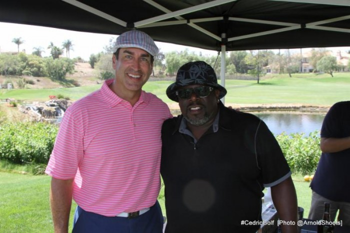 """Let's Be Cops"" star Rob Riggle joined Cedric for a round of golf on the links at Spanish Hills Country Club for the 3rd Annual Cedric The Entertainer Golf Classic. (Photo: A Turner Archives/CTE_CGC)"