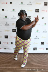 Showing off his signature swing, Cedric The Entertainer prepares to tee-off at his 3rd Annual Cedric The Entertainer Celebrity Golf Classic.  Proceeds from the event benefit The Brotherhood Crusade, The Kyles Family Foundation and The Boys and Girls Club of Camarillo. (Photo: A Turner Archives/CTE_CGC)