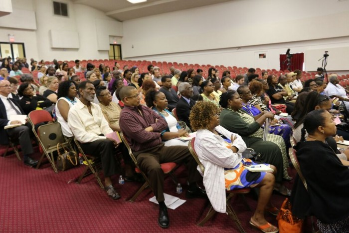 Audience  listens attentively to the panelist discuss their personal testimonies on the abuse to prison pipeline for girls and women of color (Photo Credit/ Aonya McCruiston)