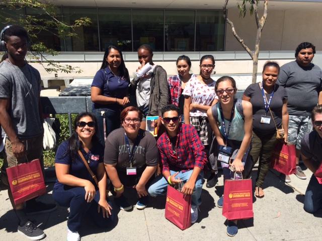 Prospective Students Tour CSU  Dominguez-Hills Campus.  (LAS/Brittany K. Jackson photo)