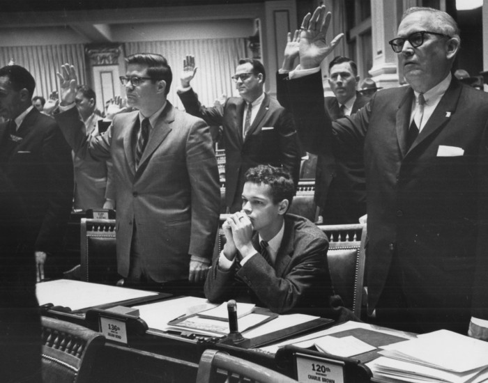 Julian Bond Denied His Seat in the GA Legislature, January, 1966 Photo:  Associated Press