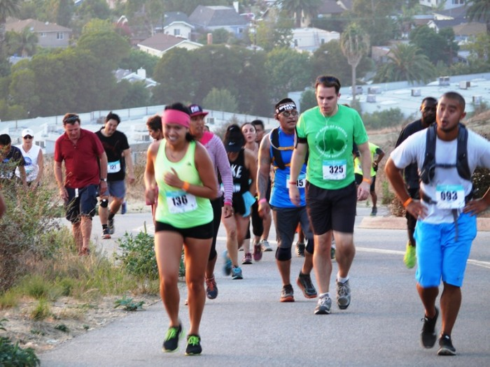 Participants run the course covering most the Baldwin Hill Scenic Overlook eventually finishing the event with the 282 Stair Climb
