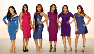 The ladies of the exclusive medical inner circle are Dr. Jacqueline Walters, Dr. Simone Whitmore, Dr. Heavenly Kimes, Toya Bush-Harris, Lisa Nicole Cloud and Quad Webb-Lunceford.  (Courtesy of Bravo)