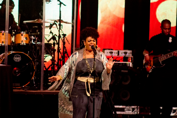 Jill Scott performed some of her most popular songs at the Greek Theater. (Troy Tieuel/LA Sentinel)