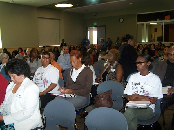 The packed audience listened attentively during the non-profit training session. (Courtesy Photo)
