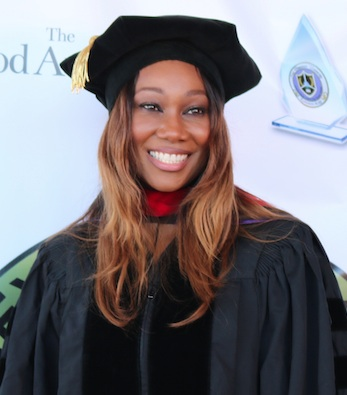 Gospel recording artist Yolanda Adams walks the red carpet before receiving an honorary doctorate from Next Dimension University on August 15. (photo by Brittany K. Jackson)