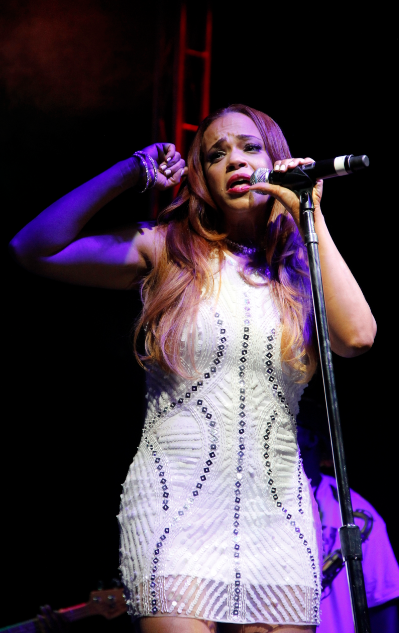 Faith Evans gives an emotional performance as she works to transform her image while maintaining her vocal style. (Troy Tieuel/LA Sentinel)