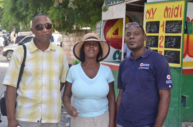 Christopher got first hand information from the Red Cross in Port-au-Port, Haiti, about not receiving aid money from American Red Cross. (Courtesy photo)
