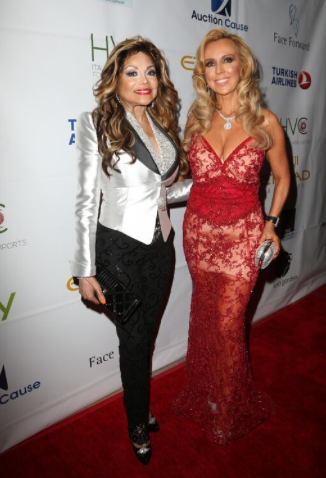 LaToya Jackson and founder of Face Forward Deborah Alessi pose on the red carpet before the gala.  (Faye Sadou)