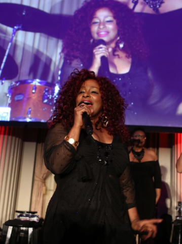 "Chaka Khan performing some of her greatest hits to rock the ""Moulin Rouge"" themed gala.  (Faye Sadou)"