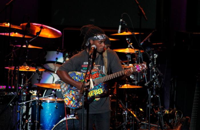 Ziggy Marley's oldest son, Daniel Bambaata Marley. (Troy Tieuel/LA Sentinel)