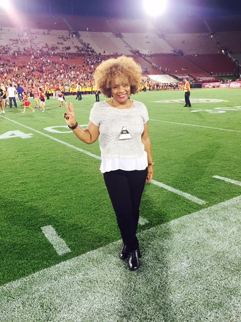 Dr. Valerie Wardlaw Reporting from the LA Memorial Coliseum