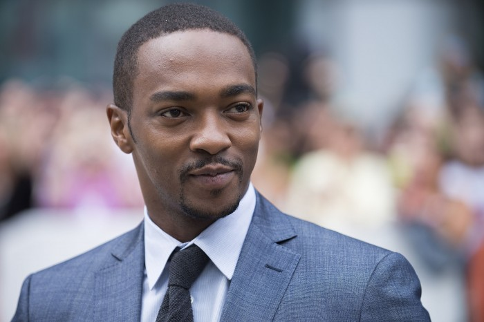 """Actor Anthony Mackie seen at the """"Black And White"""" premiere at Roy Thomson Hall during the Toronto International Film Festival on Saturday, Sept. 6, 2014, in Toronto. (Photo by Arthur Mola/Invision/AP)"""