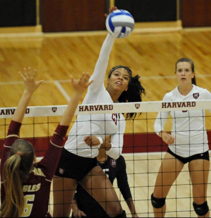 The Ivy League Conference named Cornelius #21 the Rookie of the Week on Sept. 22 (Courtesy of Harvard Woman's Volleyball)