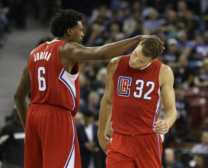LA Clippers DeAndre Jordon and Blake Griffin Celebrate Narrow Win Over Kings