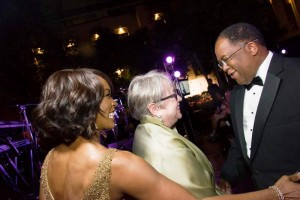 LA County Supervisor Mark Ridley Thomas greets actresses Kathy Bates and Angela Basset at last year's Special Needs Network Annual Night Under the Stars. (courtesy photo)