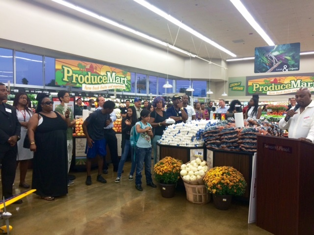 Produce area inside the new Smart and Final in Compton (Courtesy Photo)