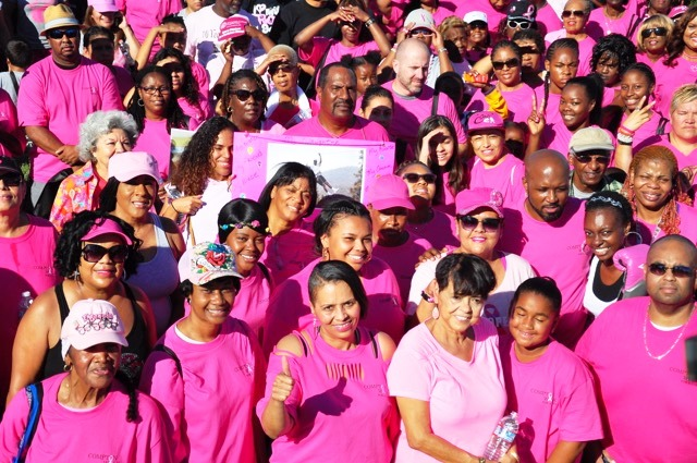 """""""Breast cancer is an indiscriminate threat that affects women of all ages and all colors here in the city of Compton,"""" said Board President Micah Ali as he walked alongside City Councilwoman Janna Zurita. (Courtesy Photo)"""