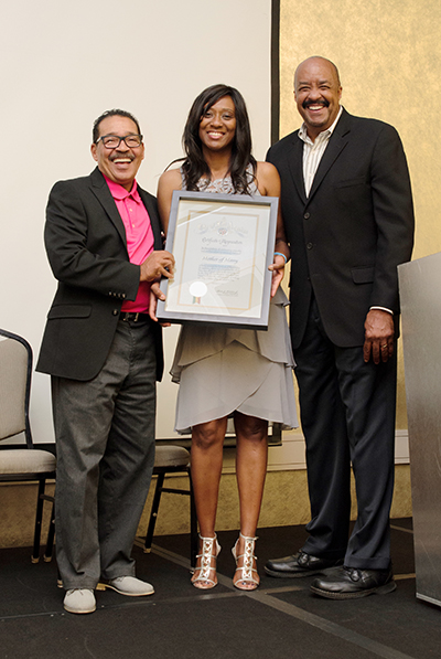 Herb J. Wesson, Jr./Los Angeles City Council President, Daphne D. Bradford/Mother Of Many CEO/Founder,  Dr. Robert K. Ross/CEO & President California Endowment. (Courtesy of DreamAction Photography)