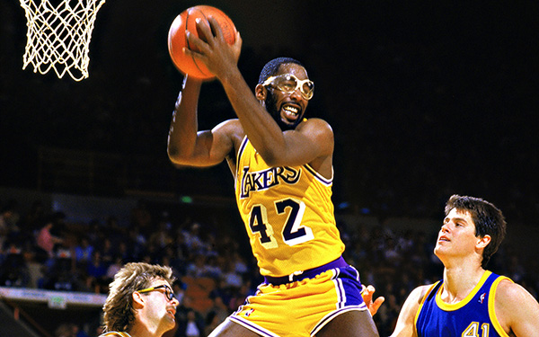 Former Lakers player James Worthy (shown above) has been hired by the team to work with the coaching staff it was announced recently, by General Manager Mitch Kupchak. (file photo)