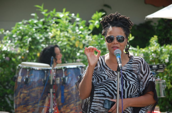 Sweetbaby J'ai, Palm Springs Jazz Festival Artistic Director (photo by Pat Hendricks Munson)