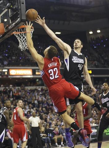 LA Clippers Blake Griffin Scores Against the Sacramento Kings AP Photo:  Rich Pedronelli
