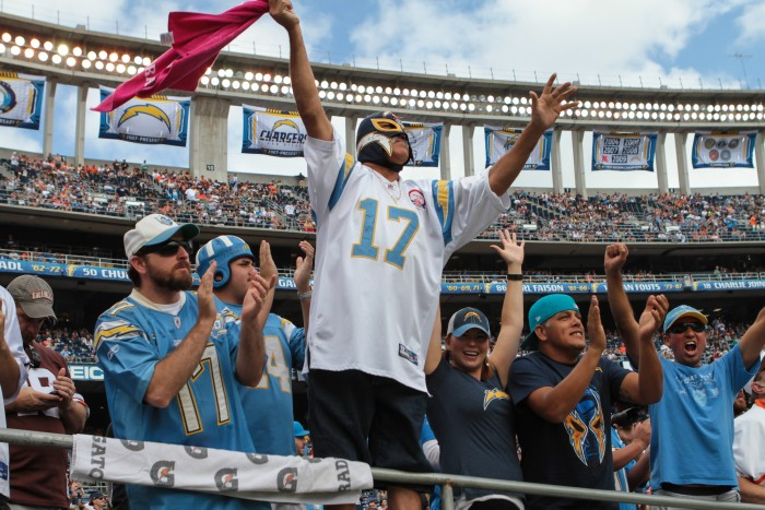 Charger fans celebrate! Photo:  Jevone Moore