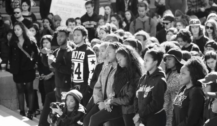 Occidental students of all backgrounds stand together in solidarity Courtesy Photo