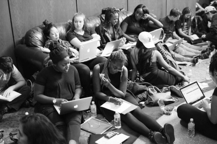 Student protesters at Occidental College occupied a sit-in at the campus' Arthur G. Coons Administrative Center