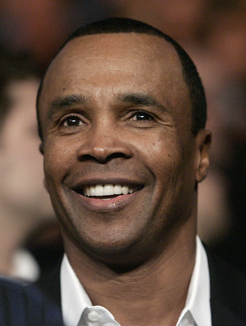FILE - In this Jan. 24, 2009, file photo, Sugar Ray Leonard attends a WBA welterweight title boxing match between Antonio Margarito and Shane Mosley in Los Angeles. There's an upcoming anniversary mportant to Leonard. The anniversary of his biggest fight ever. Come July 4 he will have been clean and sober for five years. (AP Photo/Danny Moloshok, File)