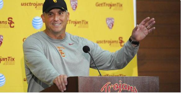 Clay Helton Hired As Permanent Football Coach. Photo:  Courtesy USC