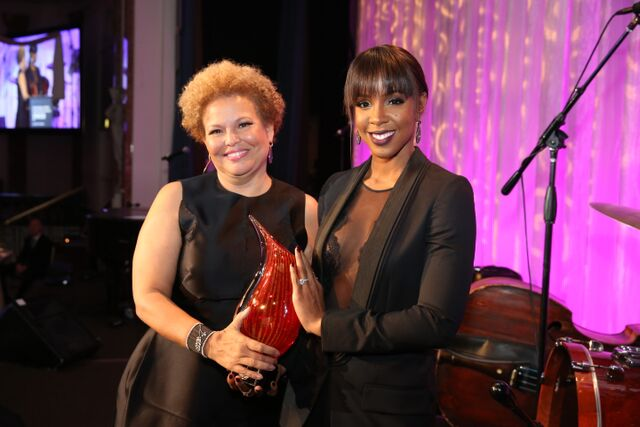 BET CEO Debra L. Lee and Entertainer Kelly Rowland