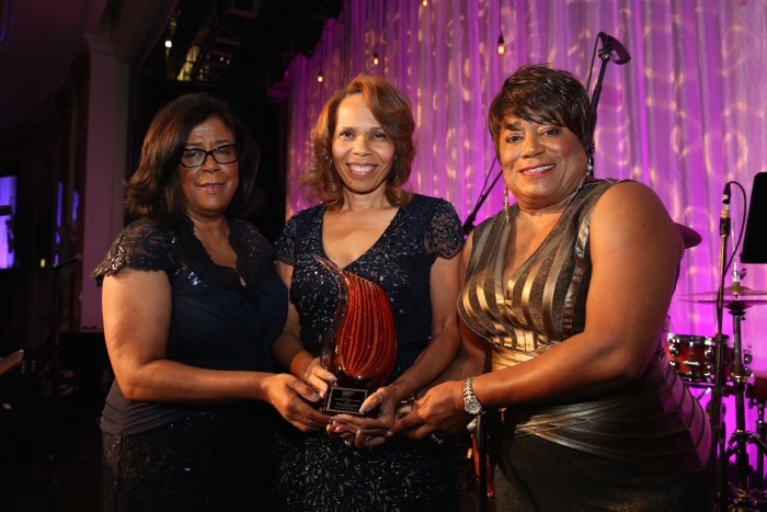 Corporate Honoree Tracey Underwood of Toyota with Jan Perry, and Faye Washington