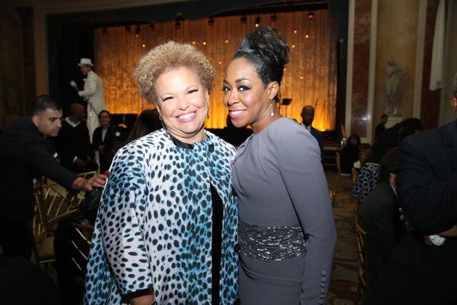 BET's Debra Lee with Actress Tichina Arnold