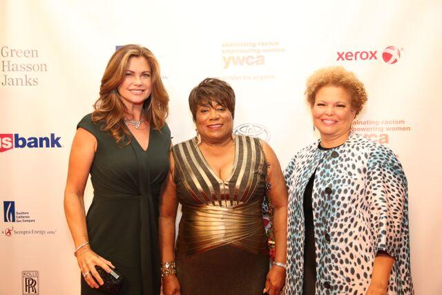 YWCA-GLA Ambassador Kathy Ireland, YWCA-GLA CEO Faye Washington and BET CEO, Debra L. Lee,
